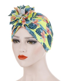 Fashion Yellow Cotton Flower Cloth Flower Headband Hat