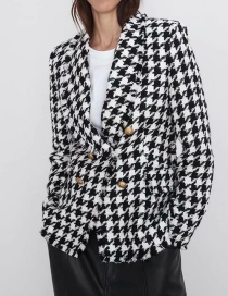 Fashion Lattice Thousand Bird Jacket