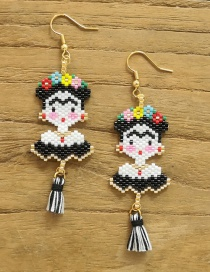 Fashion Black Tassel Earrings