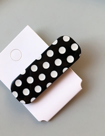 Fashion Square Black And White Spot Pattern Decorated Hair Clip