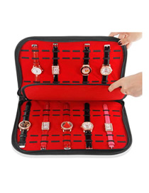 Fashion Black + Red 20 Watch Display Box