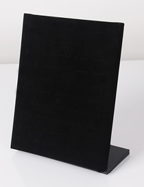 Fashion Black Velvet 51-bit Suede Ring Earring Display Box