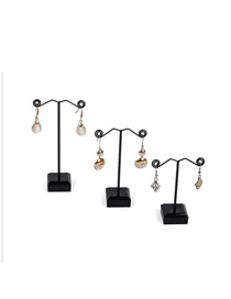 Fashion Large Black Earring Display Stand Metal Acrylic (one pc)
