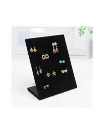 Fashion 60 Hole Ear Nail Plate Black Velvet Jewelry Display Stand