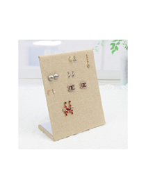 Fashion 60 Hole Earrings Burlap Jewelry Display Stand