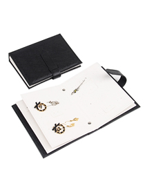 Fashion Black Pu Leather Jewelry Display Stand