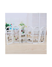 Fashion 6 White Screen Type Jewelry Display Stand