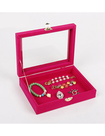 Fashion Rose Red Empty Box Small Jewelry Display Box