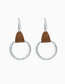 Fashion Brown Circle Alloy Geometric Earrings