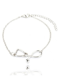 Fashion White K Stethoscope Heart Necklace