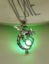 Fashion Yellow Green Fluorescent Dragon Necklace