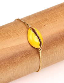 Fashion Yellow Beach Wind Dripping Color Shell Bracelet