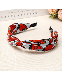 Fashion Blue Strawberry Print Headband Fruit Strawberry Print Headband