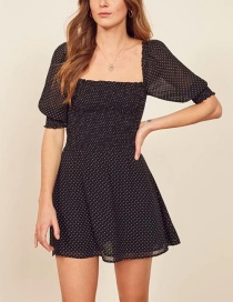 Fashion Black Polka Dot Dress