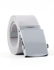 Fashion Light Gray Canvas Woven Belt