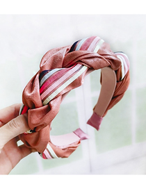 Fashion Watermelon Red Hazelnut Headband Twist Braid Headband