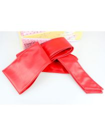 Fashion Red Ribbon Bow Wide Belt