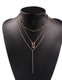 Fashion S Alloy Multi-layer Letter Necklace