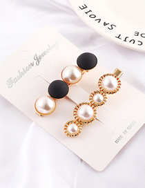 Fashion Black Frosted Pearl Hair Clip