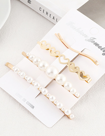 Fashion Gold Small Love Hairpin Set