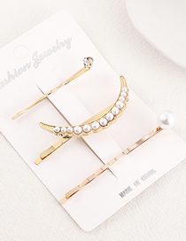 Fashion Gold Small Moon Hairpin Set