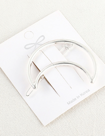 Fashion White K Moon Hairpin