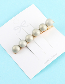 Fashion Light Green Pearl Hairpin