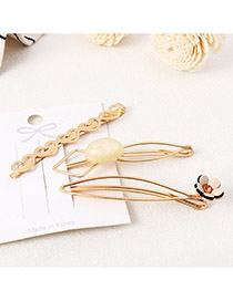 Fashion White Love Flower Hair Clip Set