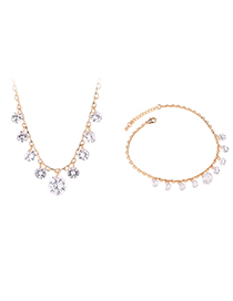 Fashion Gold Zircon Set - Sky Stars