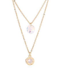 Fashion Gold Austrian Crystal Chain - Tenderness Like Water (14k Gold)