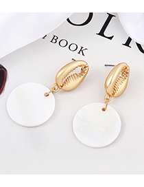 White Fresh Shell Earrings