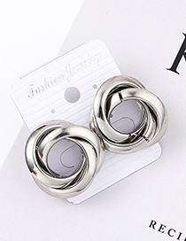 Fashion White K Spiral Earrings