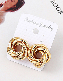 Fashion Kc Gold Flower Roll Earrings
