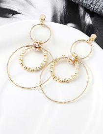 Fashion 14k Gold Plated Gold Gourd S925 Silver Needle Earrings