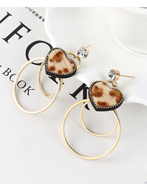 Fashion 14k Gold Gold-plated Gold-plated Large Circle S925 Silver Needle Stud Earrings
