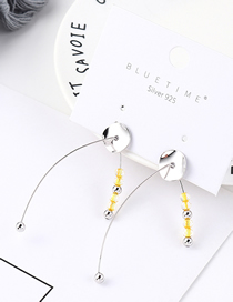 Fashion Silver Plated Gold Plate S925 Silver Needle Stud Earrings