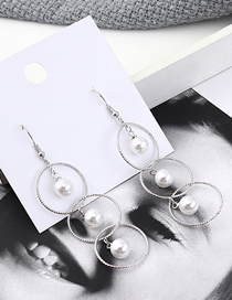 Fashion Silver Plated Gold Circle Cutout Earrings