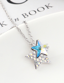 Fashion Colorful White Star Crystal Necklace