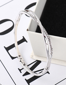 Fashion White Heavenly Love Crystal Bracelet