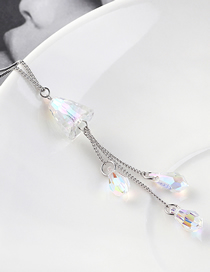Fashion Ab Crystal Necklace - Eyes