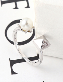 Fashion Platinum Zircon Ring - Love Square Drill