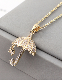 Fashion 14k Gold Zircon Necklace - For Your Umbrella