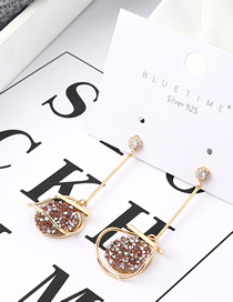 Fashion K Gold + Pink Plated Gold Oval Disc S925 Silver Needle Stud Earrings