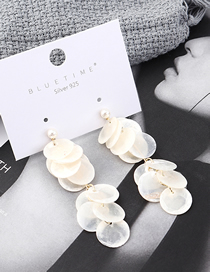Fashion White Plated Gold Small Round Pearl S925 Silver Needle Stud Earrings