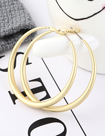 Fashion Dumb Gold Plated Gold Large Circle Cutout Earrings