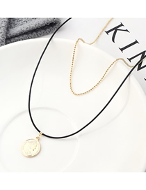 Fashion 14k Gold Plated Gold Portrait Seal Necklace