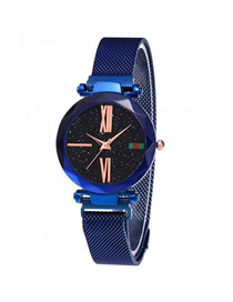 Fashion Blue Tape Star Watch  Electronic Element