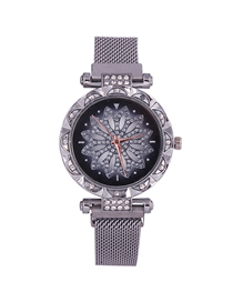 Fashion Silver Time To Run The Tape Watch  Electronic Element