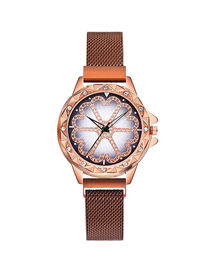 Fashion Rose Gold Time To Run The Tape Tape Watch  Electronic Element