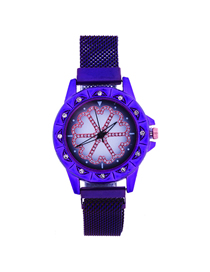 Fashion Purple Time To Run The Tape Tape Watch  Electronic Element